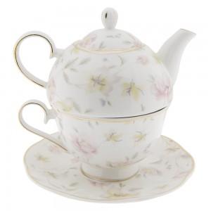 Čajnik s skodelico Cvetlice