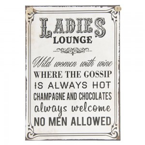 Tablica Ladies lounge..