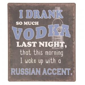 Tablica I drank so..