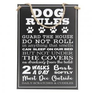 Tablica Dog rules…