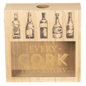 Škatla za vinske zamaške