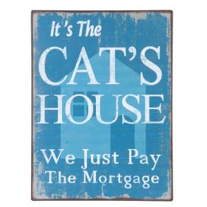 Tablica Cats house