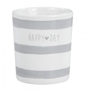 Črtasta skodelica Happy day