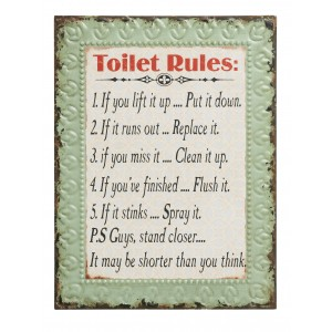Tablica Toilet rules