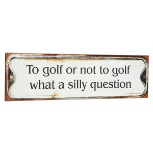 Tablica - To golf or not to golf