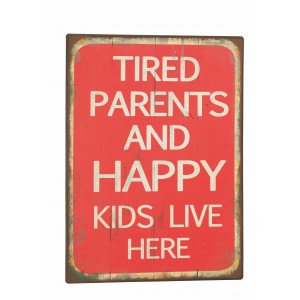 Tablica - Tired parents and happy