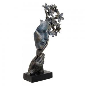 Skulptura Obraz in cvetje
