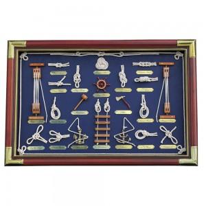Stenska dekoracija Pomorski vozli