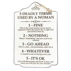 Tablica 5 deadly terms..