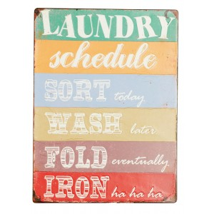 Tablica Laundry schedule