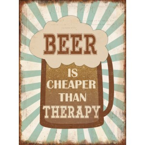 Tablica Beer is cheaper than therapy