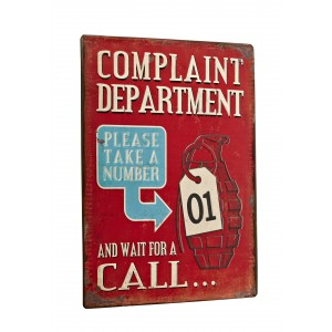 Tablica - Complaint department