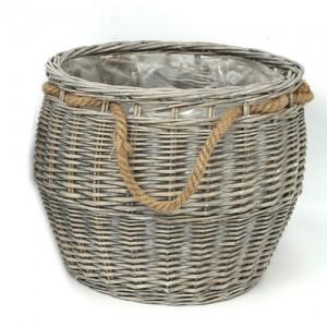 Pletena košara z ročajem