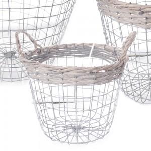 Žičnata košara z ročaji